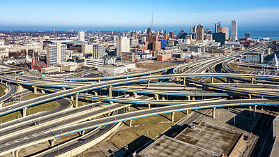 Photograph - Marquette Interchange by Randy Scherkenbach