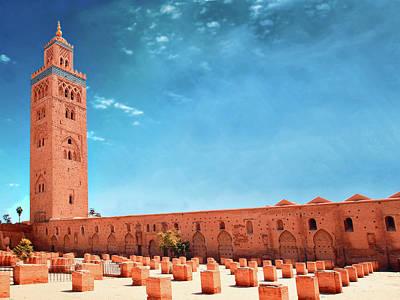 Marrakech, Koutoubia Mosque Art Print by Alberto Manuel Urosa Toledano