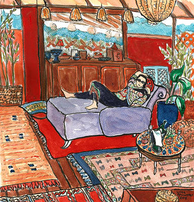 Painting - Marrakech With Scarlett by Linda Mccluskey
