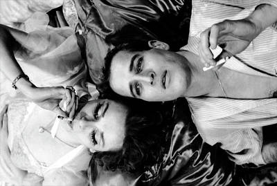 Photograph - Married Actors Joanne Woodward And Paul by Gordon Parks