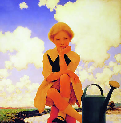 Painting - Marry Mary Quite Contrary  by Maxfield Parrish