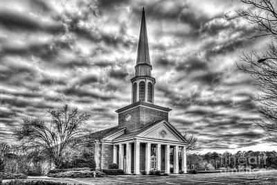 Photograph - Mars Hill Baptist Church B W Watkinsville Georgia Church Art by Reid Callaway