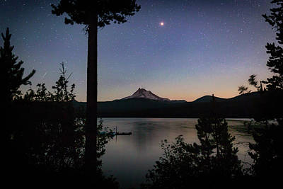 Photograph - Mars Over Mt. Jefferson by Cat Connor