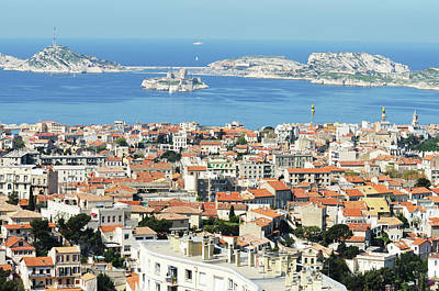 Recreational Boat Photograph - Marseille And View Of Chateau Dif by Jeangill