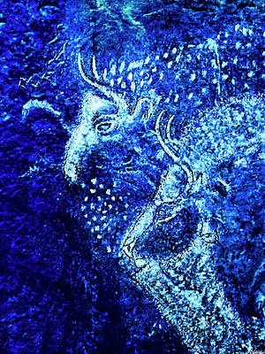 Digital Art - Marsoulas - Two Bison - Negative by Weston Westmoreland
