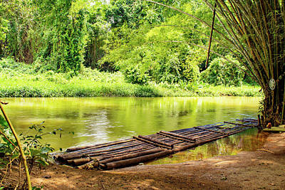 Photograph - Martha Brae River Bamboo Rafting by Debbie Ann Powell