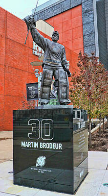 Photograph - Martin Brodeur Statue - The Salute by Allen Beatty