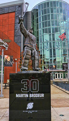 Photograph - Martin Brodeur Statue - The Salute # 3 by Allen Beatty