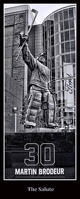 Photograph - Martin Brodeur Statue - The Salute # 5 by Allen Beatty