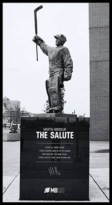 Photograph - Martin Brodeur Statue - The Salute # 6 by Allen Beatty