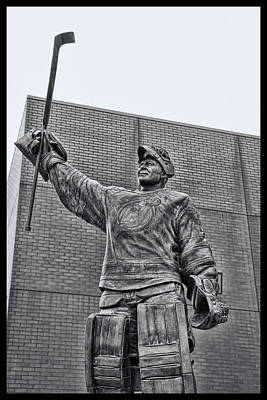 Photograph - Martin Brodeur Statue - The Salute # 7 by Allen Beatty