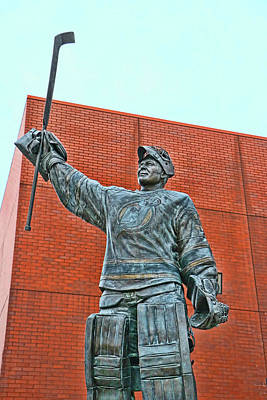 Photograph - Martin Brodeur Statue - The Salute # 8 by Allen Beatty