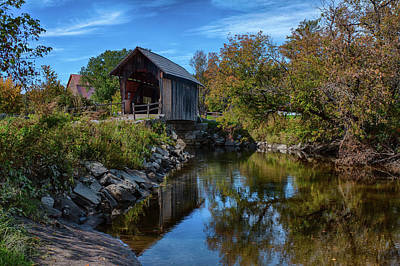 Photograph - Martin Covered Bridge In Autumn by Jeff Folger