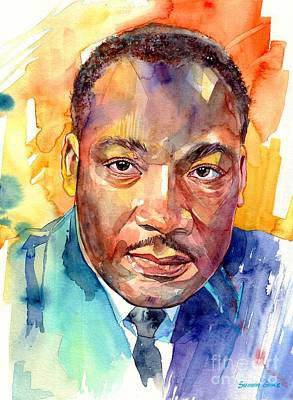 Martin Luther King Jr Watercolor Original