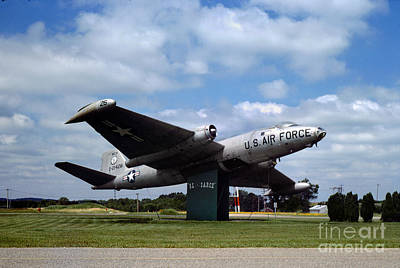 Spot Of Tea - Martin RB-57 Ole Sarge at Kellog Airport in Battle Creek Michigan by Wernher Krutein