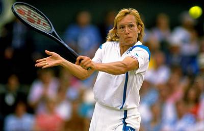 Photograph - Martina Navratilova Of The Usa Plays A by Getty Images