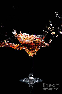 Photograph - Martini Cocktail Splash by Jelena Jovanovic