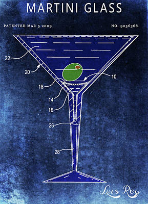 Drawing - Martini Glass Design by Dan Sproul