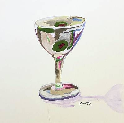 Martini Painting Royalty Free Images - Martini Royalty-Free Image by Kimberly Balentine