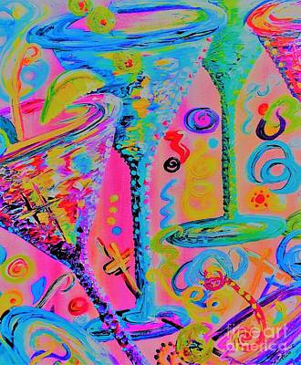 Martini Painting Royalty Free Images - Martini Madness Royalty-Free Image by Eloise Schneider Mote