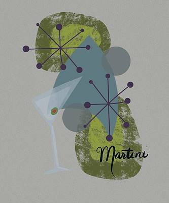 Martini Painting Rights Managed Images - Martini Royalty-Free Image by Mary Sparrow