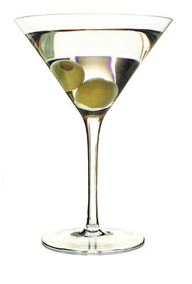 Photograph - Martini On White by Fullerene