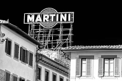 Photograph - Martini Sign In Florence by John Rizzuto