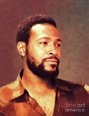 Jazz Royalty-Free and Rights-Managed Images - Marvin Gaye, Music Legend by John Springfield