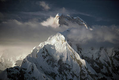 Photograph - Masherbrum 7,821 Meters As Seen From by Nick Groves/ Hedgehog House/ Minden Pictures