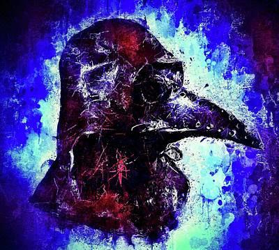 Mixed Media - Plague Mask 3 by Al Matra