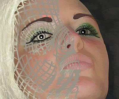 Mask Dark And Light Art Print