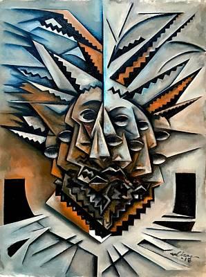 Portrait Wall Art - Painting - Mask De Epistrophique by Martel Chapman