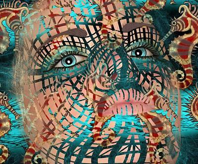 Mask Dreaming Of The Sea Art Print