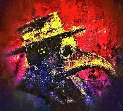 Mixed Media - Plague Mask  by Al Matra