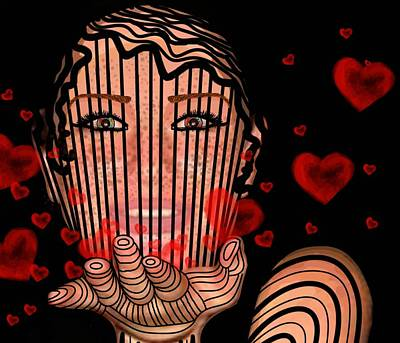 Mixed Media - Mask Of Valentine by Joan Stratton