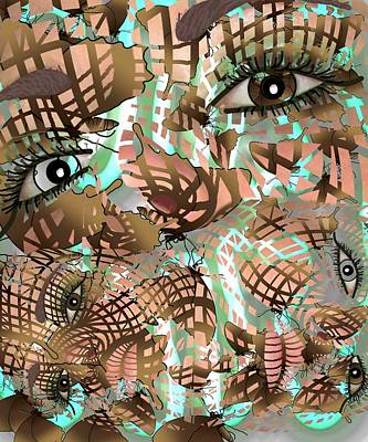 Mask Past Present Future Art Print