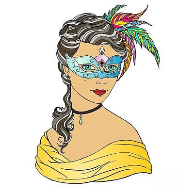 Thomas Kinkade Rights Managed Images - Masked Beauty  Royalty-Free Image by Hannah Niece
