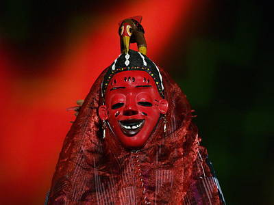 Wall Art - Photograph - Masque Africain by Christine AVIGNON