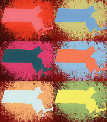 Mixed Media - Massachusetts Pop Art by Dan Sproul