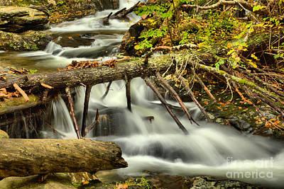 Photograph - Massachusetts Sanderson Brook Falls by Adam Jewell