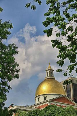 Photograph - Massachusetts Statehouse by Allen Beatty