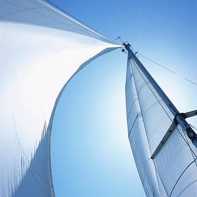 Freedom Photograph - Mast With Mainsail And Foresail Of A by Frank Van Groen / Look-foto