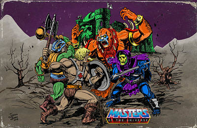 Digital Art - Masters Of The Universe by Joseph Burke