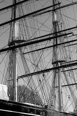 Photograph - Masts And Rigging Of The Cutty Sark by Aidan Moran
