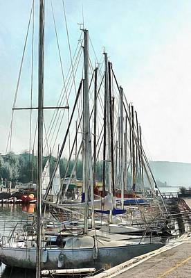 Photograph - Masts In A Row At Passignano by Dorothy Berry-Lound