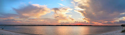 Photograph - Matanzas Inlet Sunset Panorama by Stacey Sather