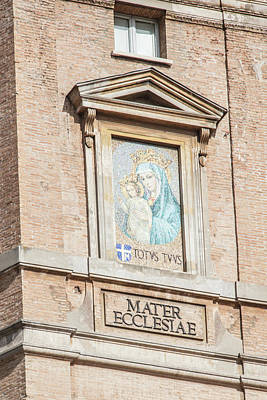 Photograph - Mater Ecclesiae At Vatican  by John McGraw