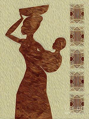 Digital Art - Maternal Grace African Fine Art I by Kenneth Montgomery