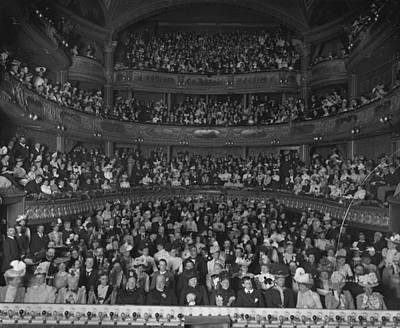 Matinee Audience Art Print by London Stereoscopic Company