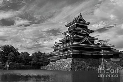 Castle Photograph - Matsumoto Castle Japan Black And White by Ivan Krpan